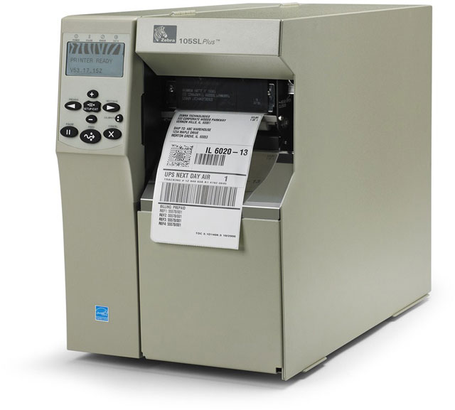 Image of Zebra 105SLPlus Printer from Emkat.