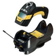 Image of Datalogic PM8300 Industrial Handheld Laser Barcode Reader with Datalogic's STAR Cordless System from Emkat.
